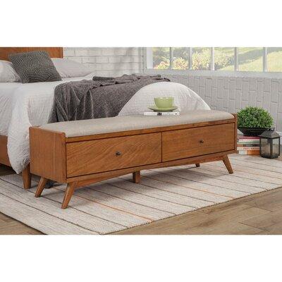 Hingham Fashion Forward Mahogany Wood Storage Bench