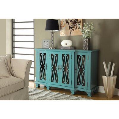 Hippocrates 4 Door Accent Cabinet Color: Blue