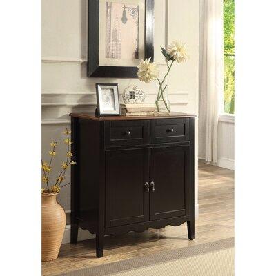 Rittenberry 2 Door Wine Accent Cabinet Color: Black