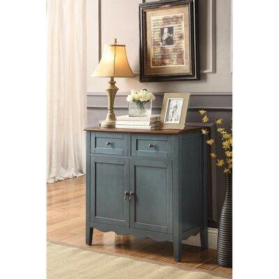 Rittenberry 2 Door Wine Accent Cabinet Color: Blue