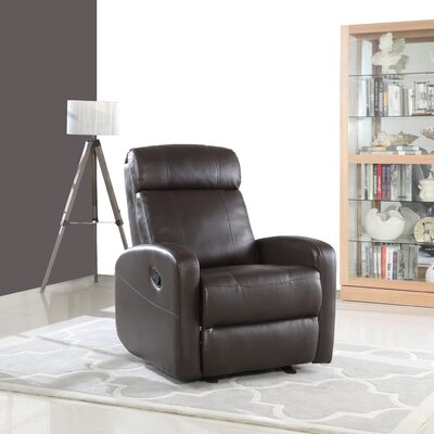 Finnerty Manual Recliner Upholstery: Brown