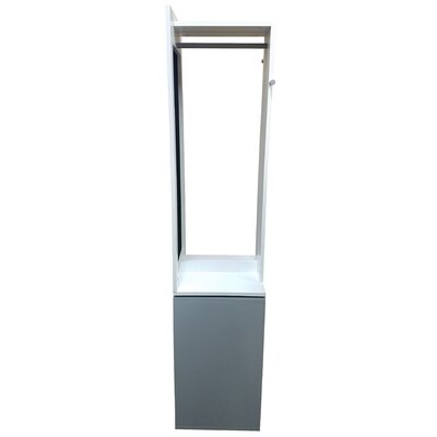 Modern D 360 Swiveling Storage Cabinet Coat Rack