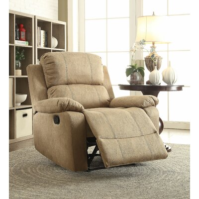 Commins Manual Recliner Upholstery: Light Brown