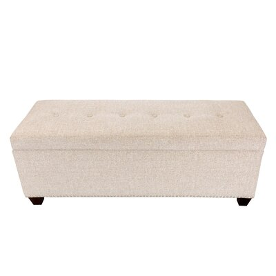 Nova Upholstered Storage Bench Color: Camel