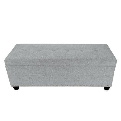 Nova Upholstered Storage Bench Color: Stone