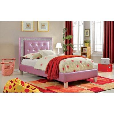 Brownfield Platform Bed Bed Frame Color: Purple, Size: Full