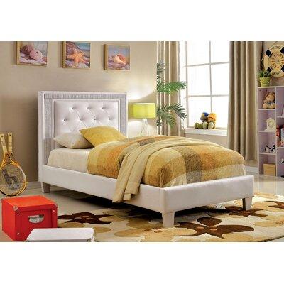 Brownfield Platform Bed Bed Frame Color: White, Size: Full