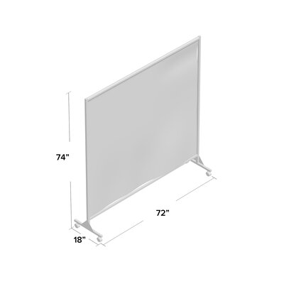 Don't Look at Me Privacy Room Divider Farbic Color: Black Privacy Fabric, Frame Color: Gray