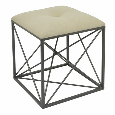 Everhart Accent Stool Frame Color: Black