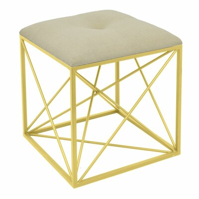 Everhart Accent Stool Frame Color: Golden