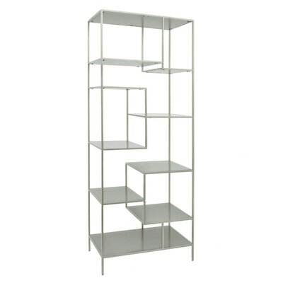 "63"" H x 24"" W Metal and Wood Shelving Unit"