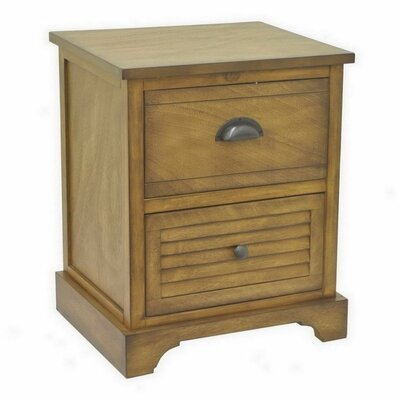 Folse Wood 2 Drawer Chest