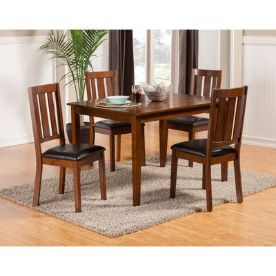 Wilke Rubberwood 5 Piece Dining Set