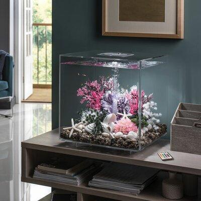 "MCR LED Aquarium Tank Size: 17"" H x 15.7"" W x 15.7"" D, Color/Finish: Transparent"