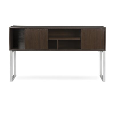 "Gerth Desk Hutch for Storage Color: Espresso, Size: 37"" H x 66"" W x 15"" D"