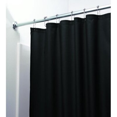 Middlebury Heavy Vinyl Shower Liner Color: Black