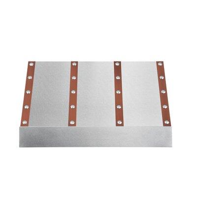 "30"" Designer Series 1200 CFM Ducted Under Cabinet Range Hood Finish: Snow Stainless Steel/Copper"