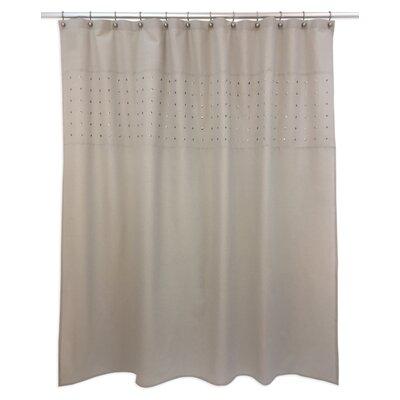 Potts Shower Curtain Color: Beige