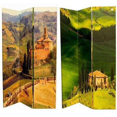 Gourley Eye-catching Canvas 3 Panel Room Divider