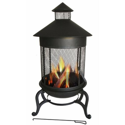 Steaming Cast Iron Wood Burning Fire Pit