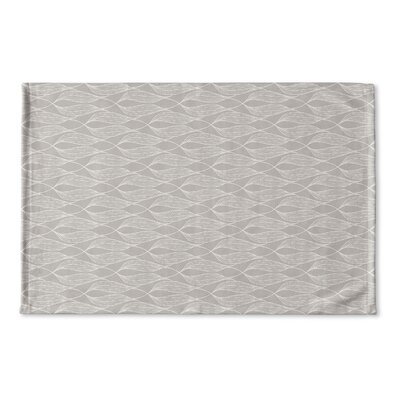 Hayter Flat Weave Bath Rug Color: Gray