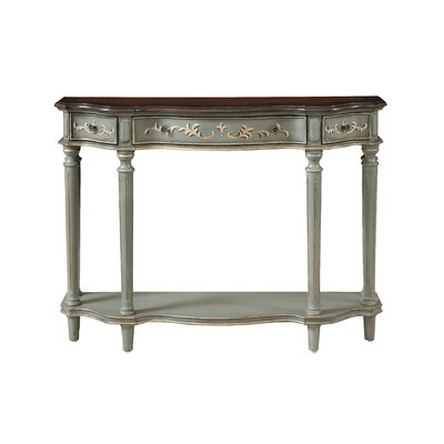 Calana 3 Drawer Console Table Color: Gray/Brown