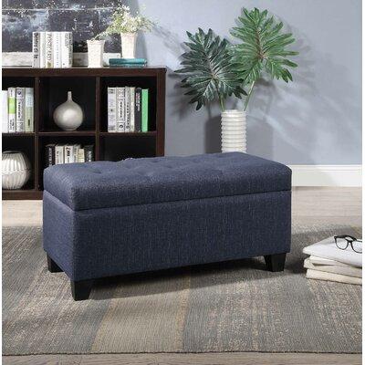 Keithsburg Upholstered Storage Bench Upholstery: Dark Blue