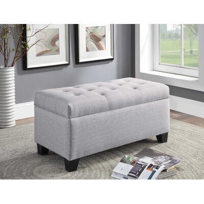 Keithsburg Upholstered Storage Bench Upholstery: Gray