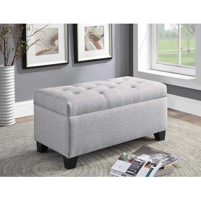 Keithsburg Upholstered Storage Bench Upholstery: Gray