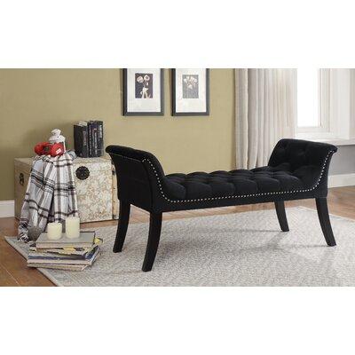 Lanham Upholstered Bench Upholstery: Black