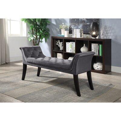 Lanham Upholstered Bench Upholstery: Gray