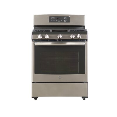 """30"""" Free-Standing Gas Range with Griddle Finish: Slate"""