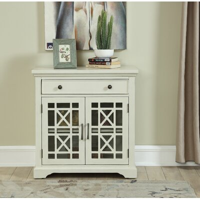 Fridley 1 Drawer Accent Cabinet Color: Cream