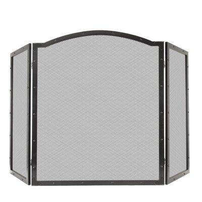 Fortna 3 Panel Steel Fireplace Screen