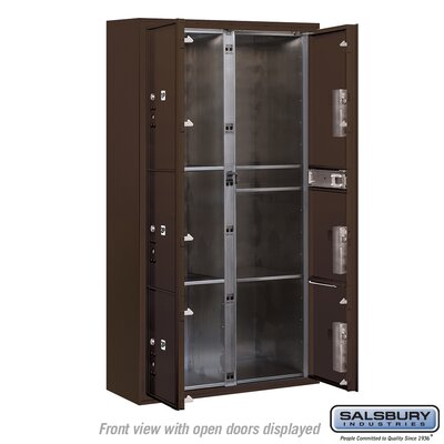 Surface Mounted 7 Unit Front Load 4C Horizontal Mail Center Mailbox Color: Bronze, Access: Private