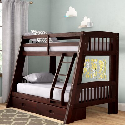 Madyson Twin over Full Bunk Bed with Storage Color: Espresso