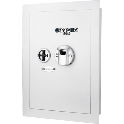 Wall Security Safe with Biometric and Key Lock