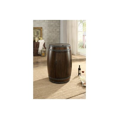 Rustic Wood Freestanding Wine Cooler Finish: Cherry Brown