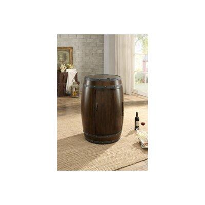 Rustic Wood Freestanding Wine Cooler Finish: Cherry Brown