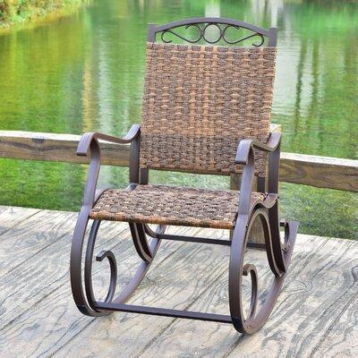 Phillip Rocking Chair Color: Espresso