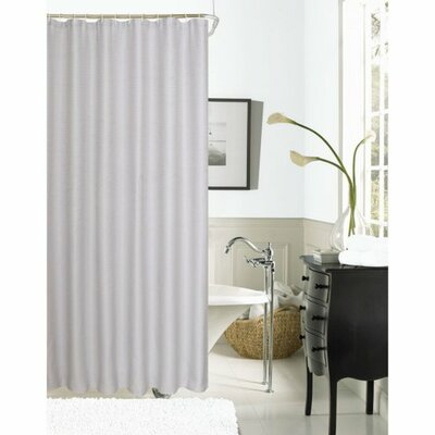 Winnifred Waffle Weave Textured Fabric Shower Curtain Color: Silver