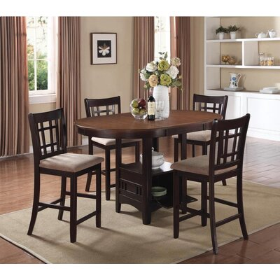 Renshaw 5 Piece Counter Height Dining Set Color: Light Chestnut