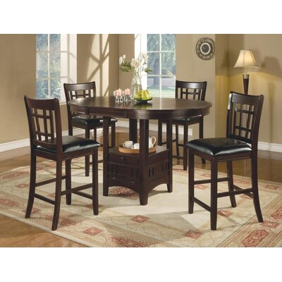 Renshaw 5 Piece Counter Height Dining Set Color: Espresso