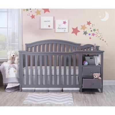 Berkley 4-in-1 Convertible Crib and Changer Color: Gray