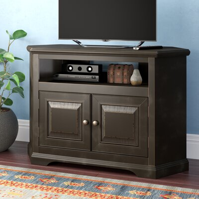 "Amara 41"" TV Stand Color: Black, Door Type: Wood"
