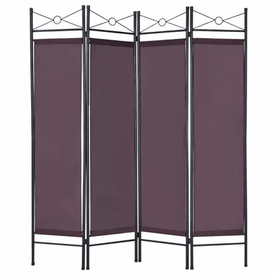 Petrone 4 Panel Room Divider Color: Brown