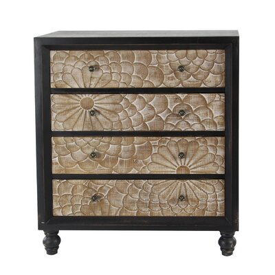 Hartl Wood 4 Drawer Accent Cabinet