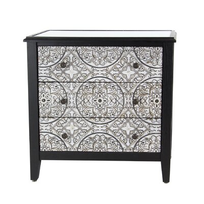 Harshbarger Traditional Wood 3 Drawer Accent Cabinet