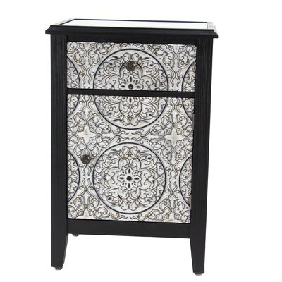 Hartig Traditional Wood Accent Cabinet