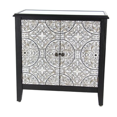 Gosser Traditional Wood 2 Door Accent Cabinet